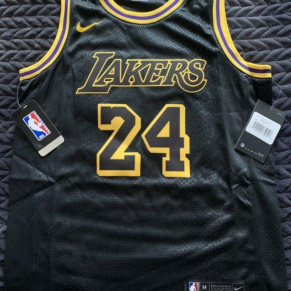 NBA Shirts & Tops   Youth Lakers 24 Kobe Bryant Black Mamba Jersey ...